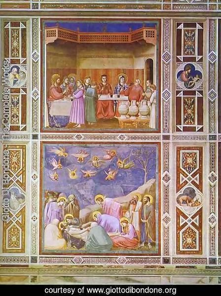 The Wedding Feast At Cana And The Deposition Of Christ 1304-1306