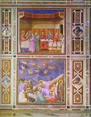 Giotto Di Bondone - The Wedding Feast At Cana And The Deposition Of Christ 1304-1306