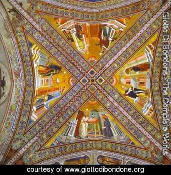 Giotto Di Bondone - Vault Of The Doctors Of The Church 1290-1295