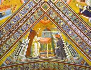 Giotto Di Bondone - Vault Of The Doctors Of The Church St Jerome 1290-1295