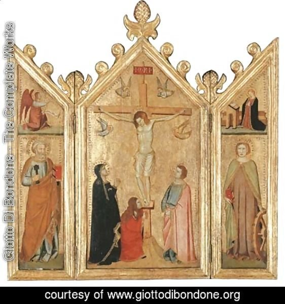 Giotto Di Bondone - The Crucifixion with the Magdalen at the Foot of the Cross