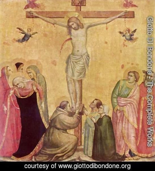 Giotto Di Bondone - Christ on the Cross between Mary and John