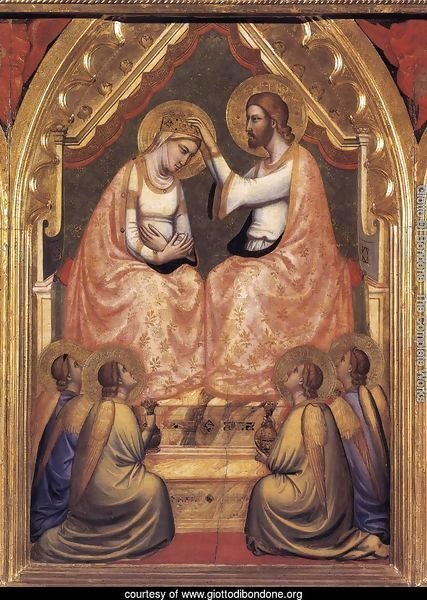 Baroncelli Polyptych- Coronation of the Virgin c. 1334