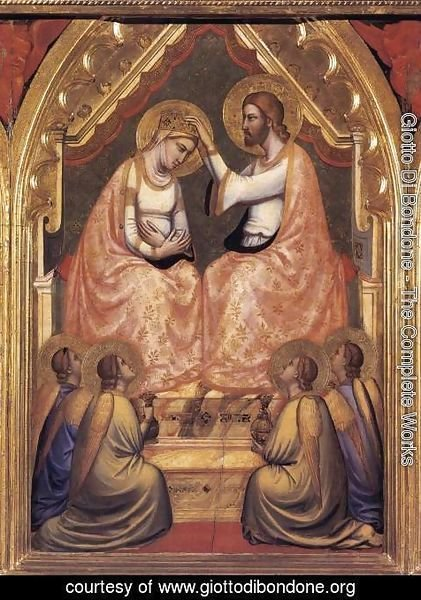 Giotto Di Bondone - Baroncelli Polyptych- Coronation of the Virgin c. 1334