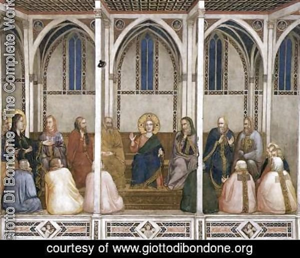 Giotto Di Bondone - Christ Among the Doctors 1310s