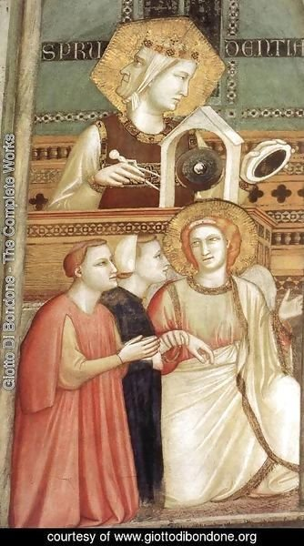 Giotto Di Bondone - Franciscan Allegories- Allegory of Obedience (detail) c. 1330