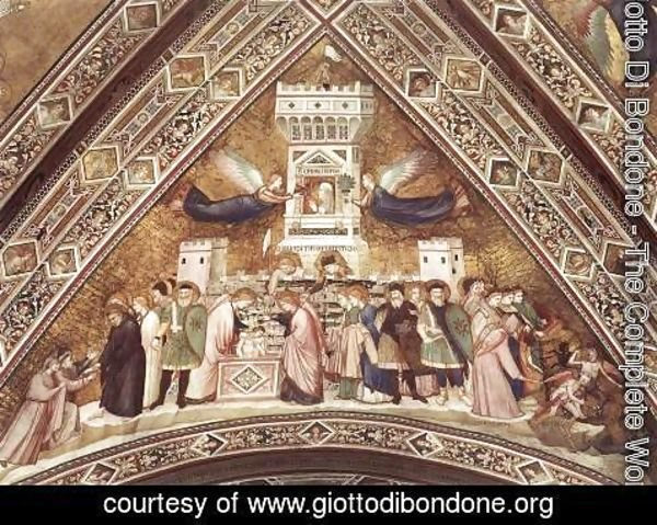Giotto Di Bondone - Franciscan Allegories-Allegory of Chastity c. 1330