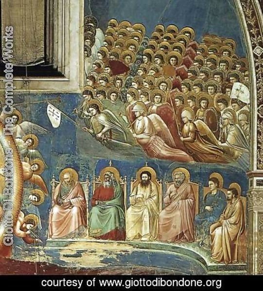 Giotto Di Bondone - Last Judgment (detail 3) 1306
