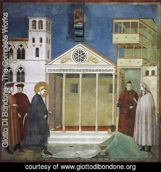 Giotto Di Bondone - Legend of St Francis- 1. Homage of a Simple Man 1300