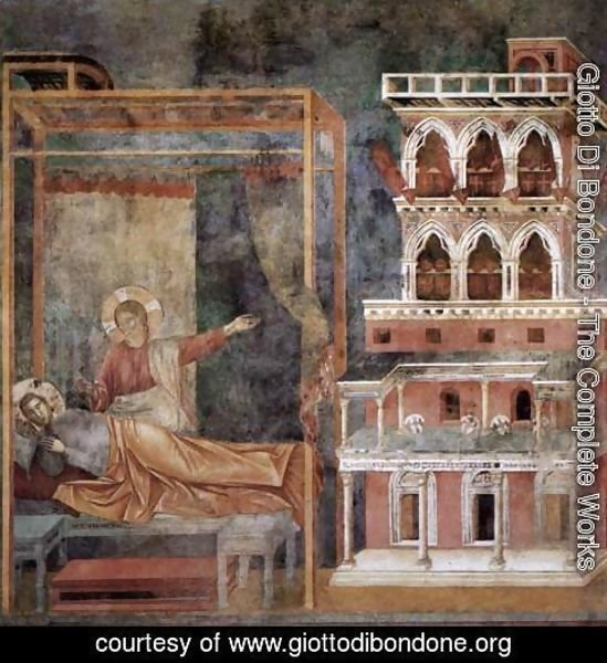 Giotto Di Bondone - Legend of St Francis- 3. Dream of the Palace 1297-99
