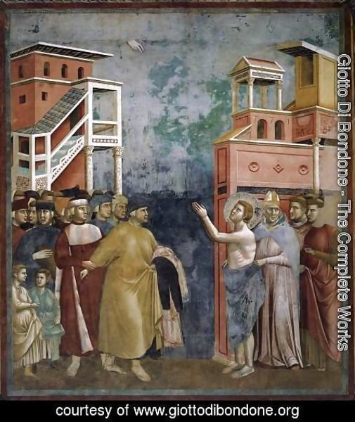 Giotto Di Bondone - Legend of St Francis- 5. Renunciation of Wordly Goods 1297-99