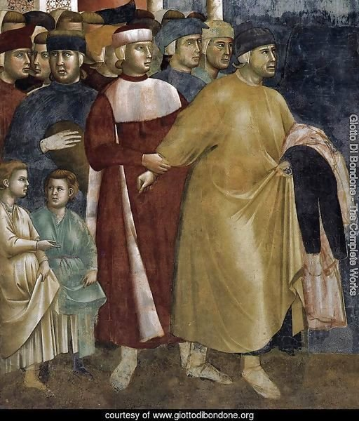 Legend of St Francis- 5. Renunciation of Wordly Goods (detail) 1297-99