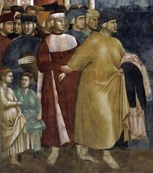 Giotto Di Bondone - Legend of St Francis- 5. Renunciation of Wordly Goods (detail) 1297-99