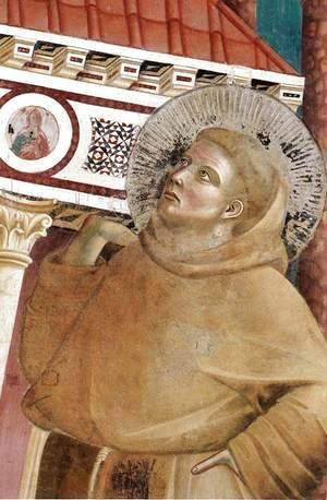 Giotto Di Bondone - Legend of St Francis- 6. Dream of Innocent III (detail 1)  1297-99