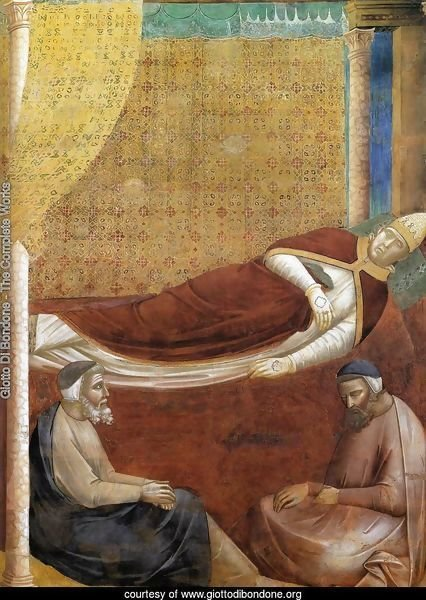 Legend of St Francis- 6. Dream of Innocent III (detail 2)  1297-99