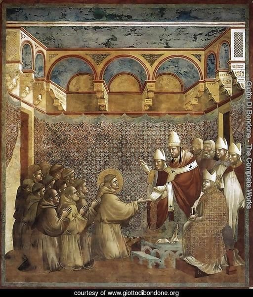 Legend of St Francis- 7. Confirmation of the Rule 1297-99