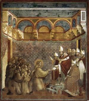 Giotto Di Bondone - Legend of St Francis- 7. Confirmation of the Rule 1297-99