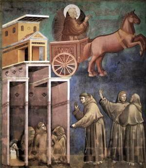 Legend of St Francis- 8. Vision of the Flaming Chariot 1297-99