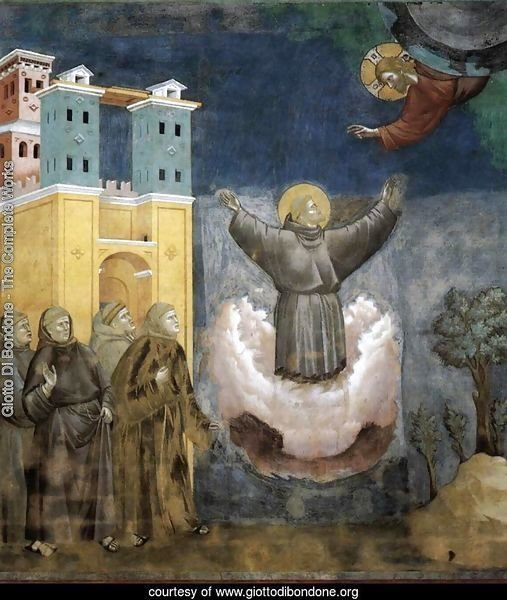 Legend of St Francis- 12. Ecstasy of St Francis 1297-1300