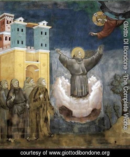Giotto Di Bondone - Legend of St Francis- 12. Ecstasy of St Francis 1297-1300