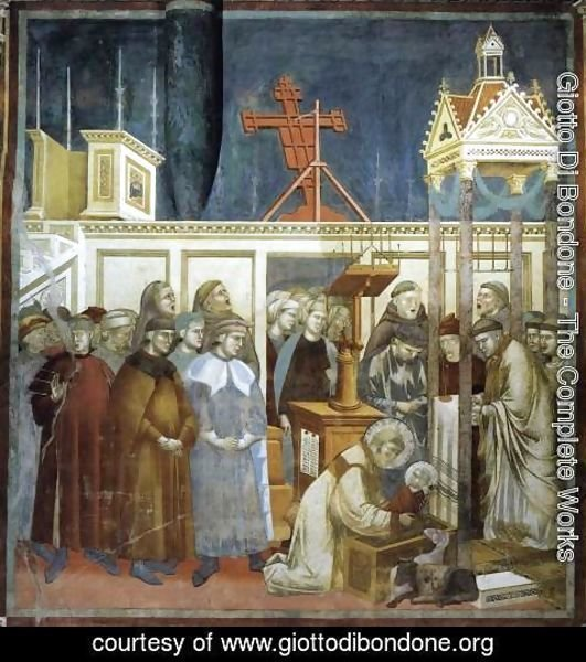 Giotto Di Bondone - Legend of St Francis- 13. Institution of the Crib at Greccio 1297-1300
