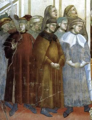 Giotto Di Bondone - Legend of St Francis- 13. Institution of the Crib at Greccio (detail) 1297-1300