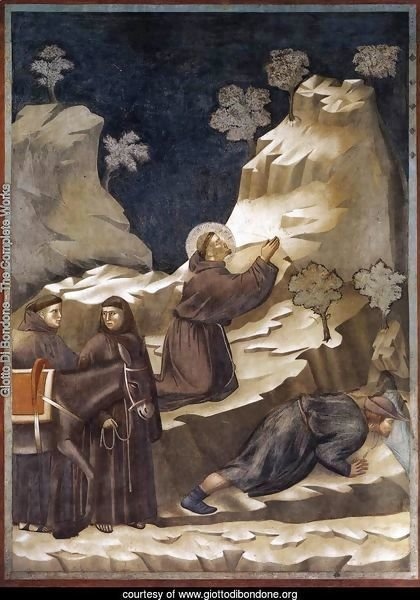 Legend of St Francis- 14. Miracle of the Spring 1297-1300