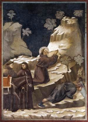 Giotto Di Bondone - Legend of St Francis- 14. Miracle of the Spring 1297-1300