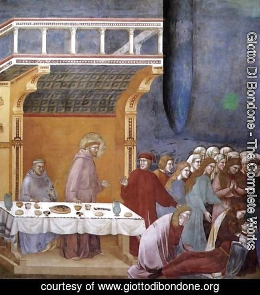 Giotto Di Bondone - Legend of St Francis- 16. Death of the Knight of Celano 1297-1300