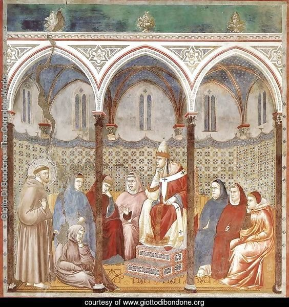 Legend of St Francis- 17. St Francis Preaching before Honorius III 1297-1300