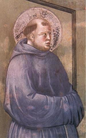 Giotto Di Bondone - Legend of St Francis- 18. Apparition at Arles 1297-1300