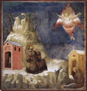 Giotto Di Bondone - Legend of St Francis- 19. Stigmatization of St Francis 1297-1300