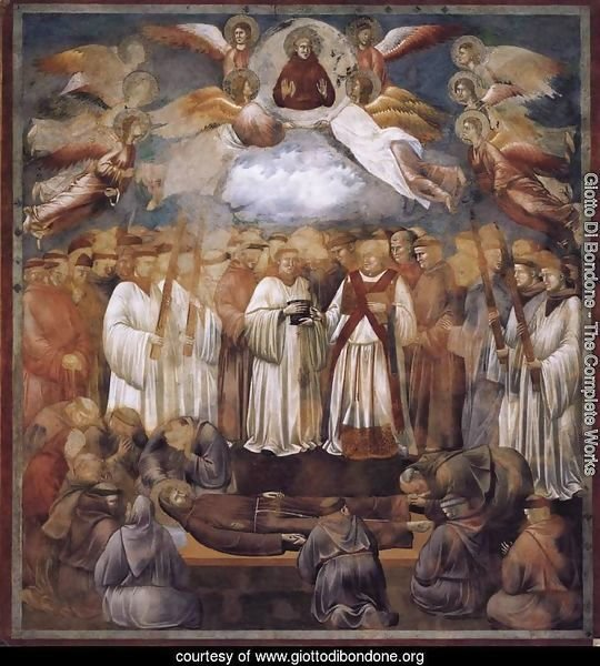 Legend of St Francis- 20. Death and Ascension of St Francis 1300