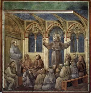 Giotto Di Bondone - Legend of St Francis- 18. Apparition at Arles 1297-1300 2