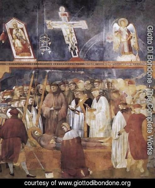 Giotto Di Bondone - Legend of St Francis- 22. Verification of the Stigmata 1300