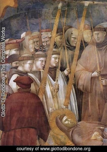 Giotto Di Bondone - Legend of St Francis- 22. Verification of the Stigmata (detail 1) 1300