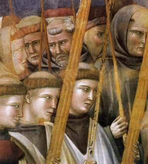 Giotto Di Bondone - Legend of St Francis- 22. Verification of the Stigmata (detail 2) 1300