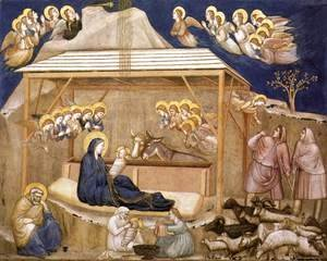 Giotto Di Bondone - Nativity 1310s