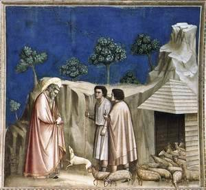 Giotto Di Bondone - No. 2 Scenes from the Life of Joachim- 2. Joachim among the Shepherds 1304-06