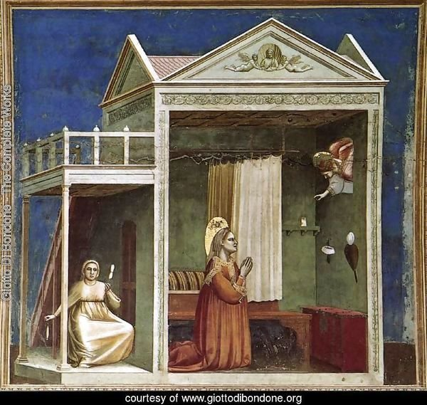 No. 3 Scenes from the Life of Joachim- 3. Annunciation to St Anne 1304-06