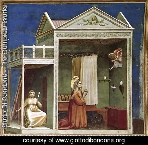 Giotto Di Bondone - No. 3 Scenes from the Life of Joachim- 3. Annunciation to St Anne 1304-06
