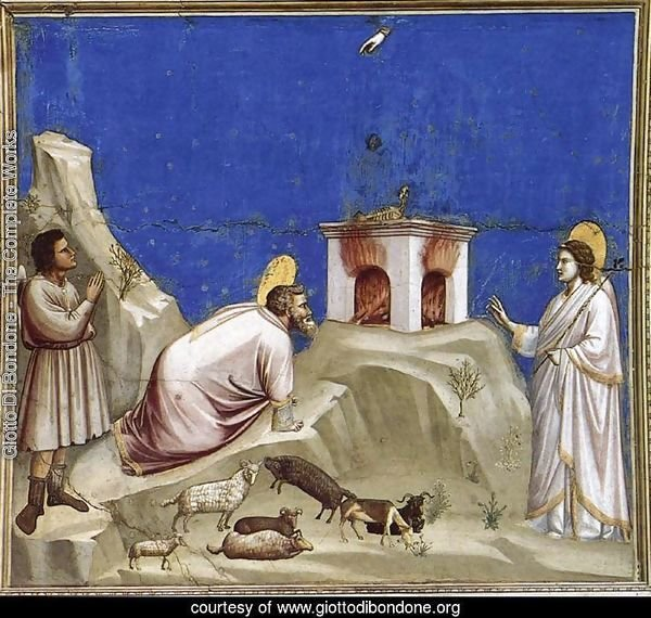 No. 4 Scenes from the Life of Joachim- 4. Joachim's Sacrificial Offering 1304-06