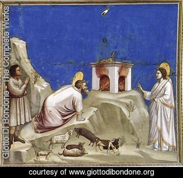 Giotto Di Bondone - No. 4 Scenes from the Life of Joachim- 4. Joachim's Sacrificial Offering 1304-06