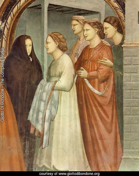 No. 6 Scenes from the Life of Joachim- 6. Meeting at the Golden Gate (detail 1) 1304