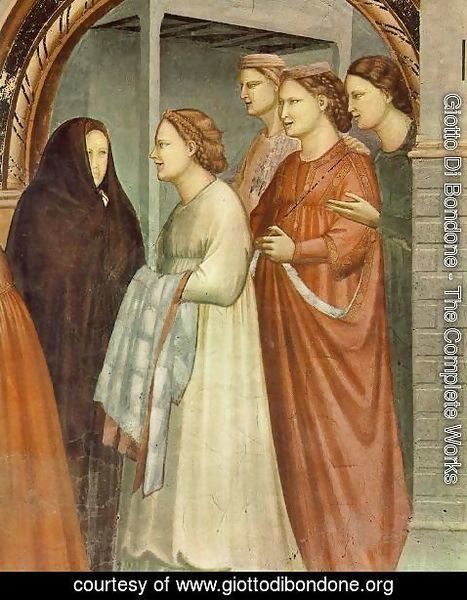 Giotto Di Bondone - No. 6 Scenes from the Life of Joachim- 6. Meeting at the Golden Gate (detail 1) 1304
