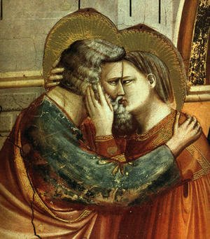 Giotto Di Bondone - No. 6 Scenes from the Life of Joachim- 6. Meeting at the Golden Gate (detail 2) 1304