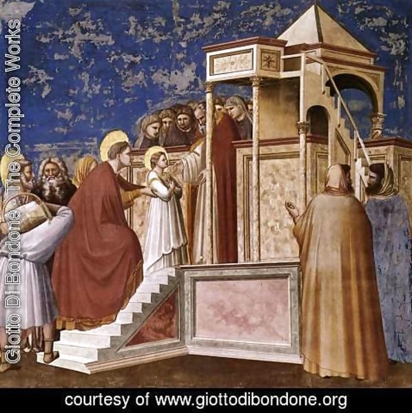 Giotto Di Bondone - No. 8 Scenes from the Life of the Virgin- 2. Presentation of the Virgin in the Temple 1304