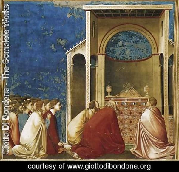 Giotto Di Bondone - No. 10 Scenes from the Life of the Virgin- 4.The Suitors Praying 1304-06