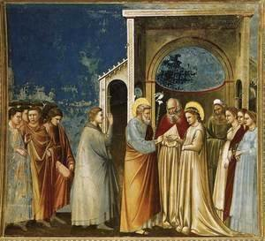 Giotto Di Bondone - No. 11 Scenes from the Life of the Virgin- 5. Marriage of the Virgin 1304-06