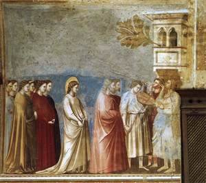 Giotto Di Bondone - No. 12 Scenes from the Life of the Virgin- 6. Wedding Procession 1304-06
